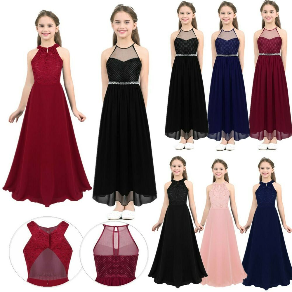 Flower Girl Dress Formal Princess Pageant Wedding Birthday Party Bridesmaid Gown