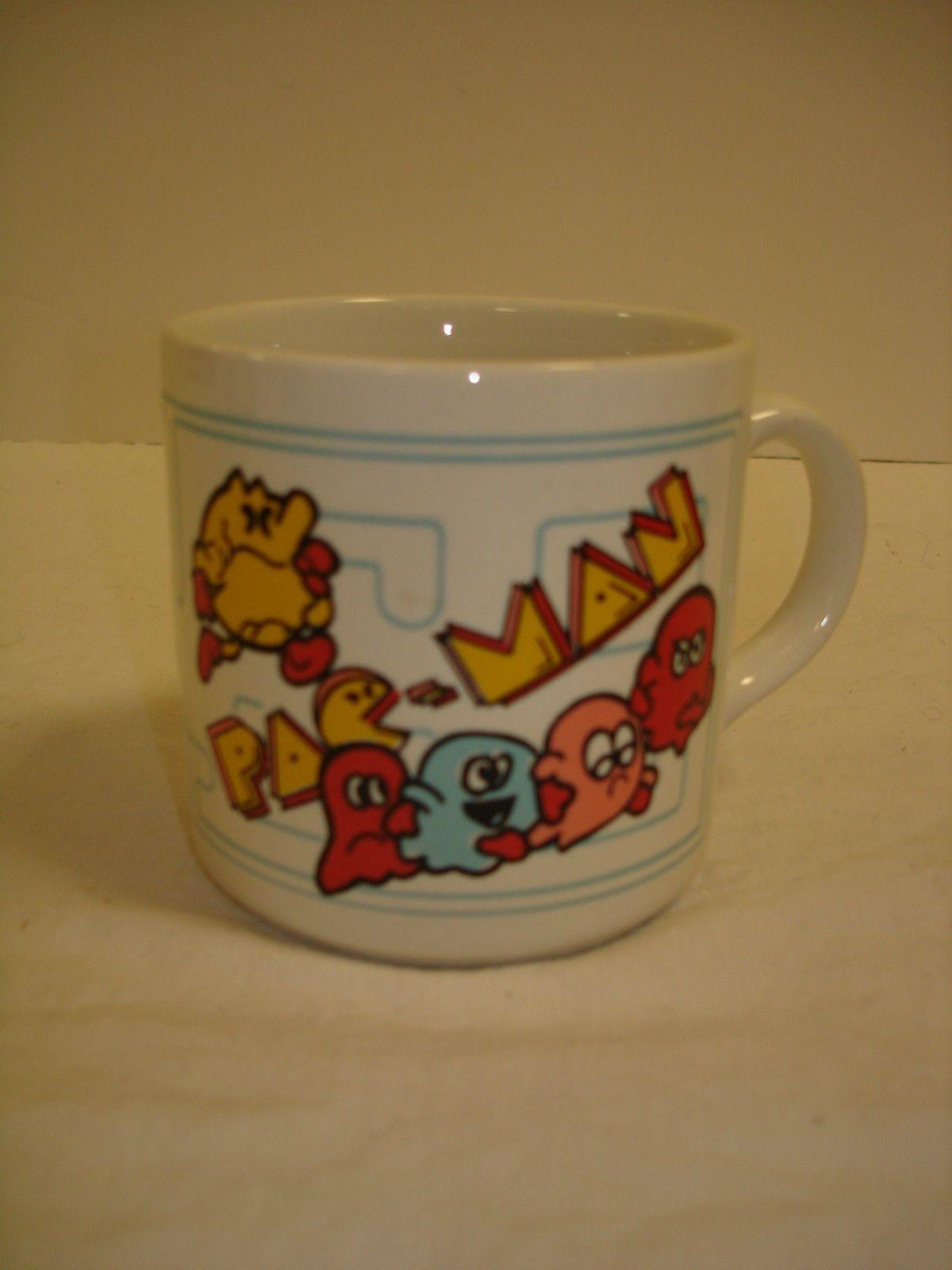 Pacman Vintage Video Game Coffee Mug Ad Figure Pac Man