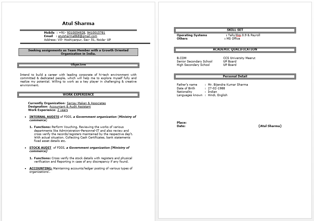 audit assistant resume - Assistant Auditor Sample Resume