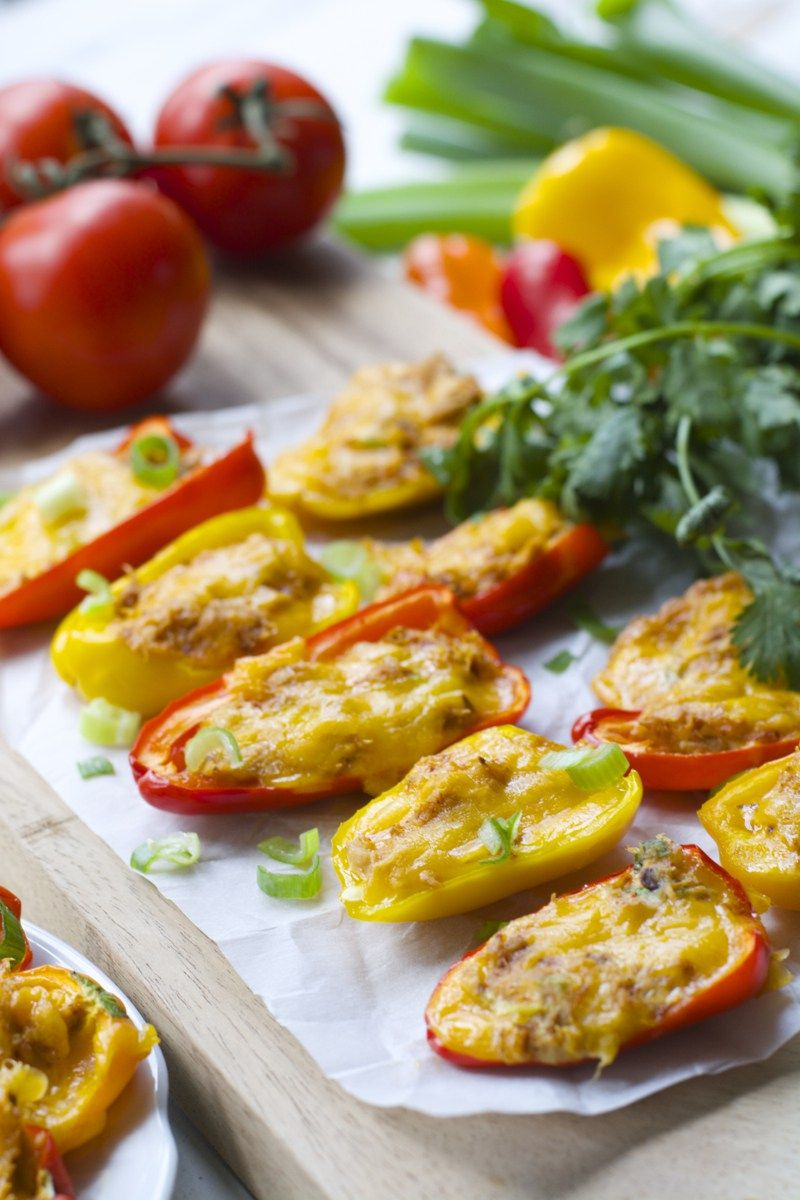 Chipotle tuna stuffed sweet peppers packed with flavor