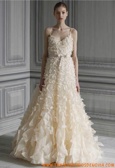 p/v flutter vestido de novia monique lhuillier | vestidos de novia