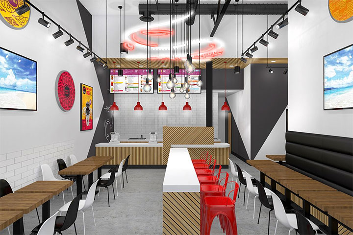 Modern Boba Tea Shop Interior Design In San Diego Shop Interior