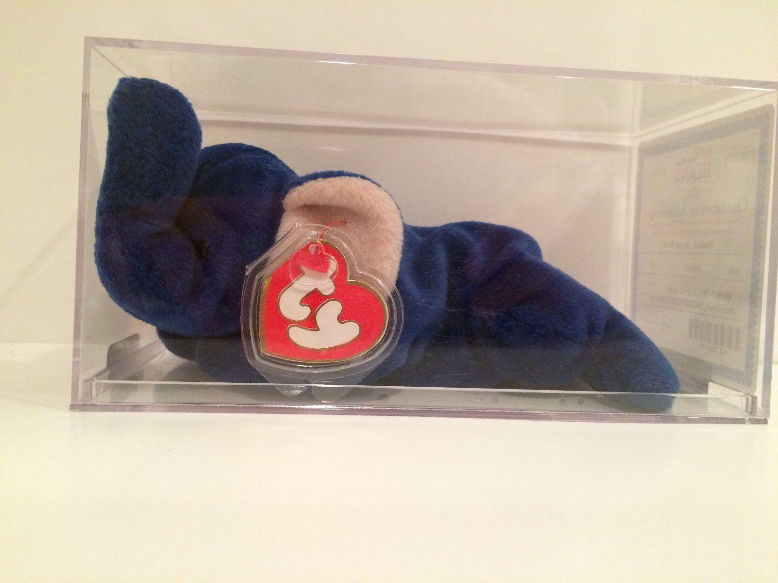 Peanut Royal Blue Elephant Beanie Baby   5 6baf8b8ba236