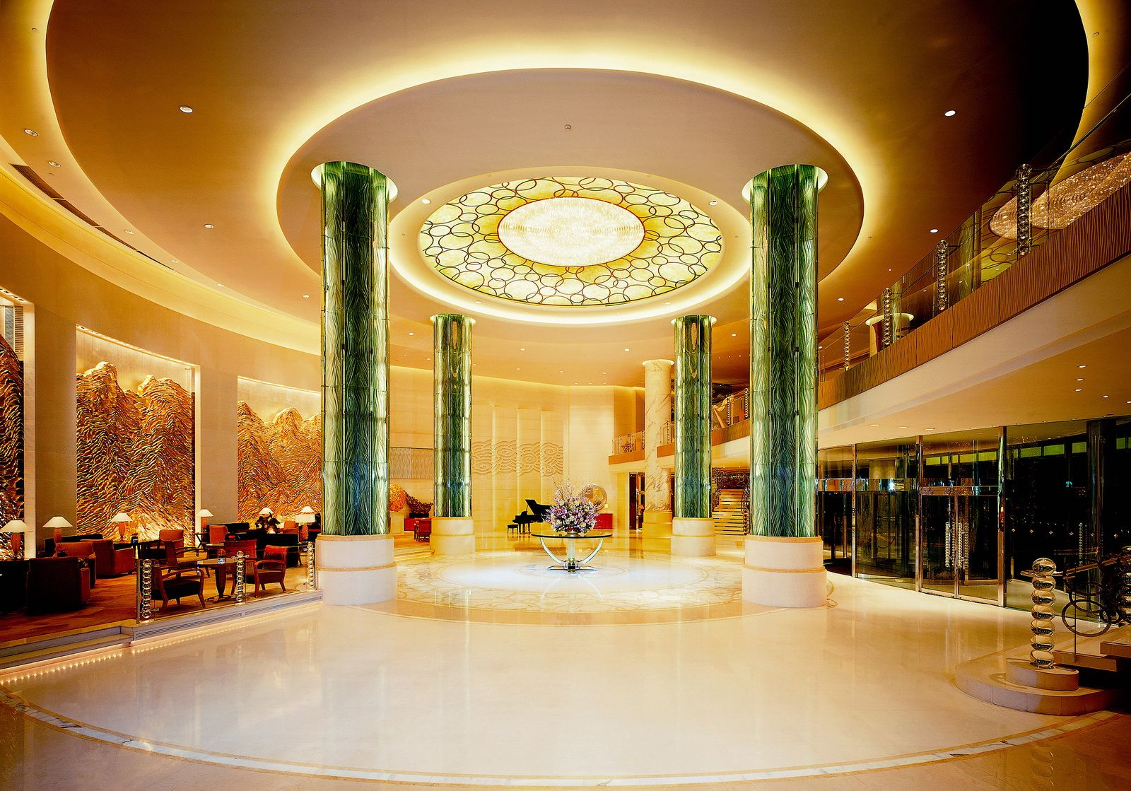 Lobby interior hotel lobby flooring ideas white flooring luxury hotels ceiling design skylights glass walls lobbies
