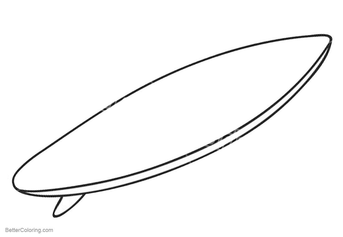 surfboard coloring page # 3