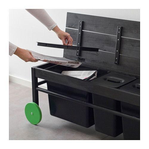 anv ndbar bank f r abfalltrennung ikea recycling stationen pinterest b nke ikea und. Black Bedroom Furniture Sets. Home Design Ideas