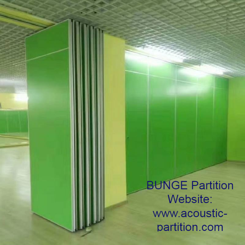 Classroom Sliding Folding Partition Walls Melamine Board