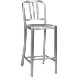 Metal High Stools Outdoor Bar Furniture In Aluminium For Sale