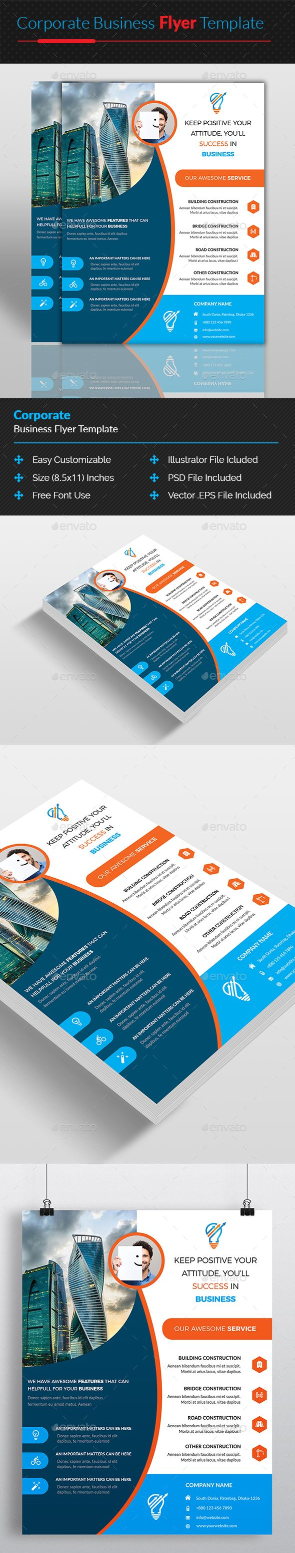 Corporate business flyer design template corporate flyers design corporate business flyer design template corporate flyers design template psd vector eps ai accmission Images