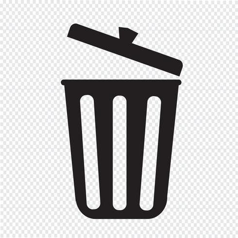 Trash Icon Symbol Sign Recycle Bin Icon Recycle Symbol Symbols