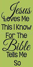 ~ITEM #5890 J  Primitive Sign Stencil~ Jesus Loves Me