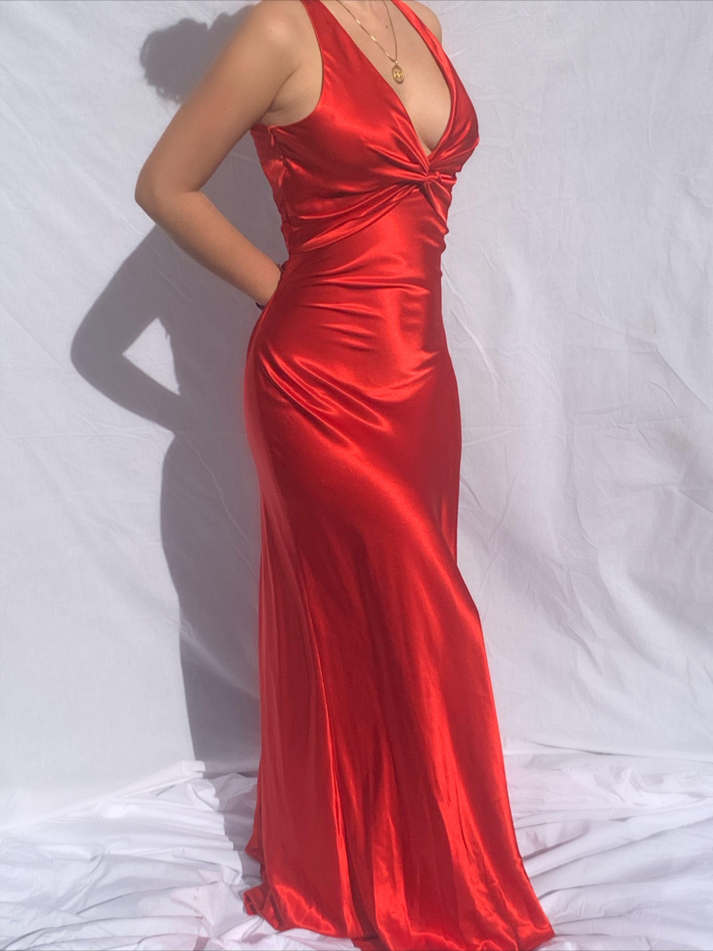 Buffy Vintage 90s Prom Dresses Pretty Red Prom Dresses Red Silk Prom Dress [ 4032 x 3024 Pixel ]