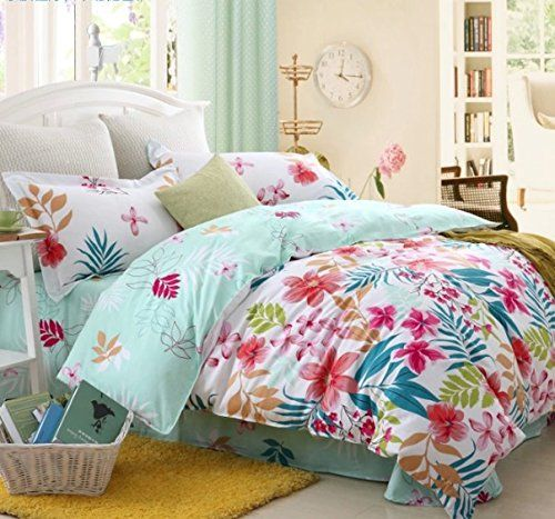 girls tropical print beach style bedding home decor ideas arquitectura. Black Bedroom Furniture Sets. Home Design Ideas