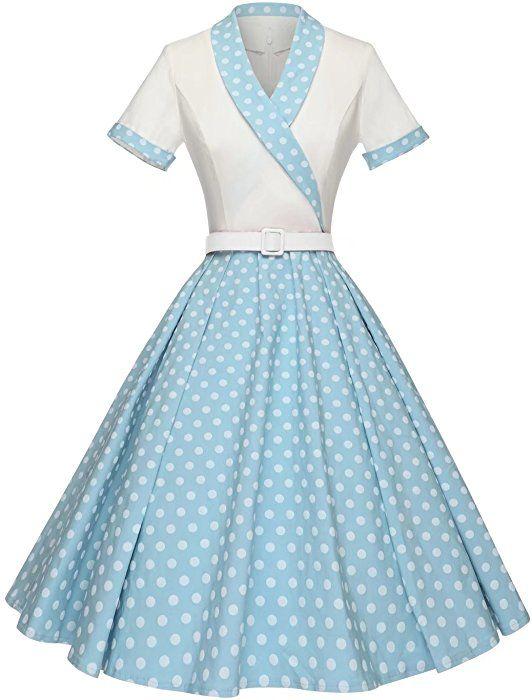Amazon Com Gowntown Women Splicing Swing Dress Party