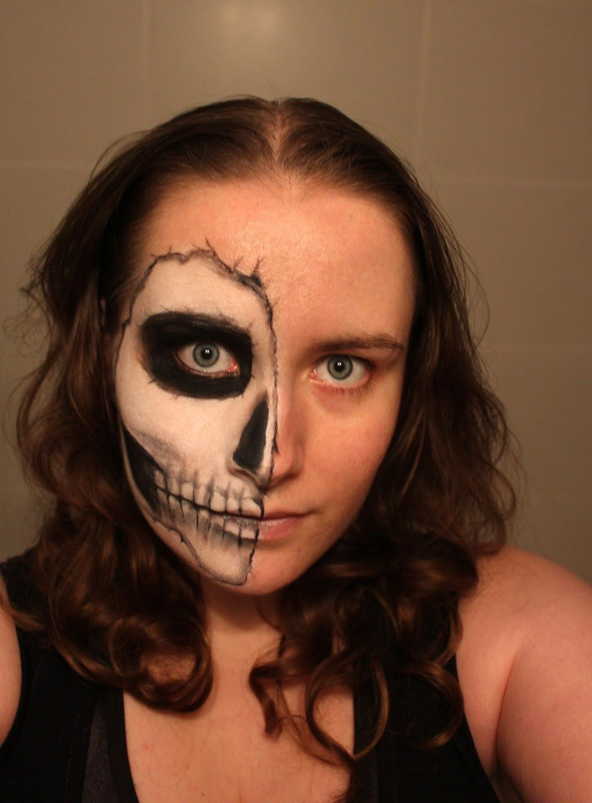 Skull Face Makeup (With images) Skull face makeup, Easy