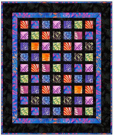 Barbara Campbell's Batik Quilt Pattern (LOVE this!)