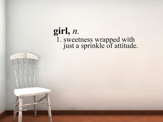Girl Definition Vinyl Wall Decal Small By Circlelinestudio On Etsy, $24.00