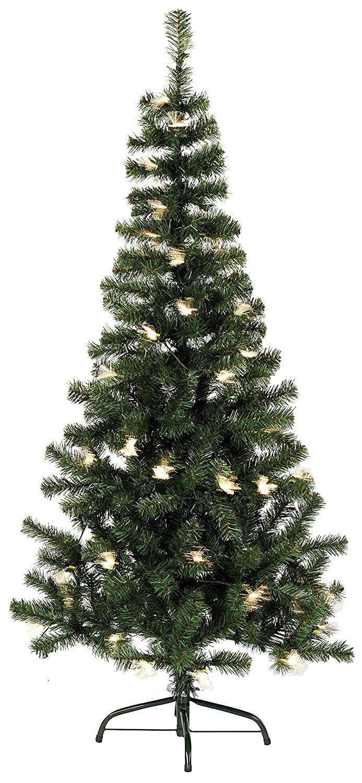 star 150 x 80 cm alaska led christmas tree with outdoor metal stand green - Outdoor Metal Christmas Trees