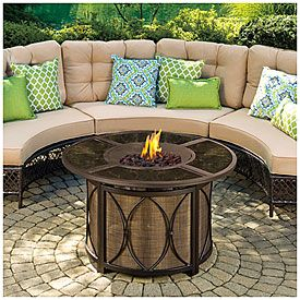 View Wilson Fisher Riviera Gas Firepit Deals At Big Lots Outdoor Fire Pit Fire Pit Bbq Concrete Fire Pits