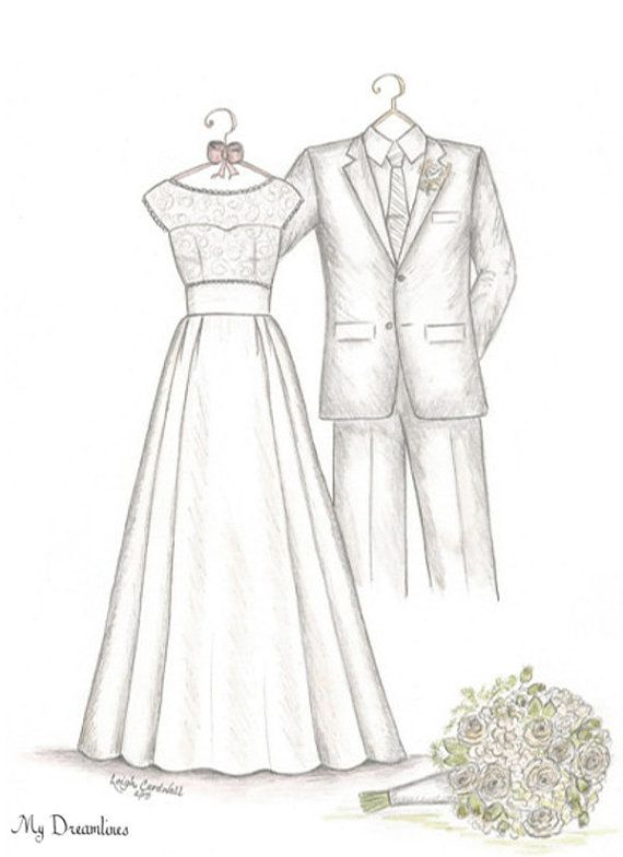 Pin by Wedding Dress Sketch - Dreamlines on Wedding Gifts ...