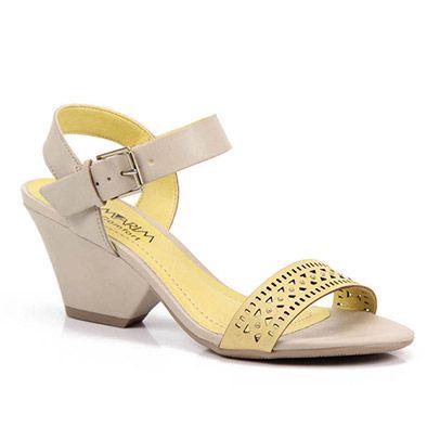 a5759b836 Sandália Salto Ramarim 14-77203 - Amarelo - Passarela.com | sapatos ...