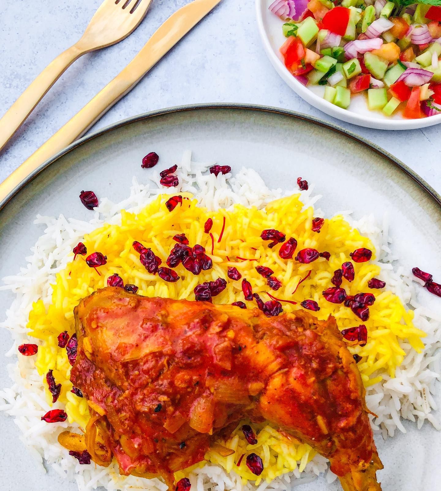 Today We Re Traversing Over Into Persia With This Zereshk Polo Ba Morgh Most Of You Already Know My Love Affair With Persi Food Persian Food Cravings