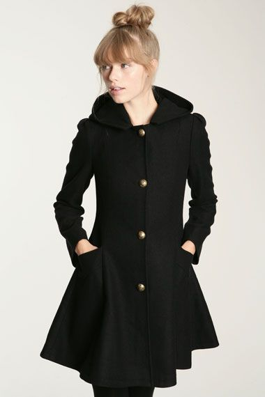 Tootless-Women Retro Double Button Top Coat Asymmetrical Jacket Coats