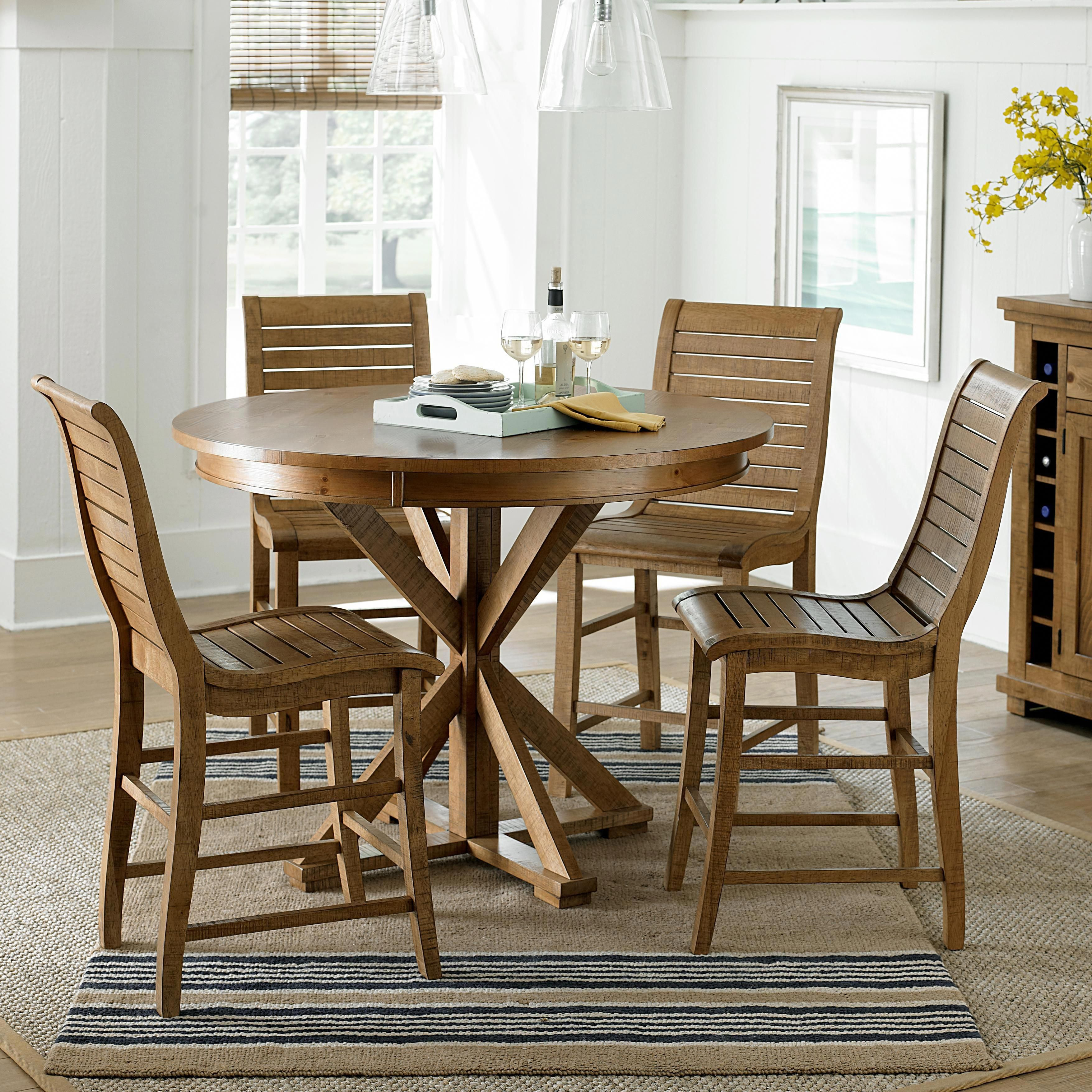 Bar height square kitchen table  Willow Dining Piece Round Counter Height Table Set by Progressive