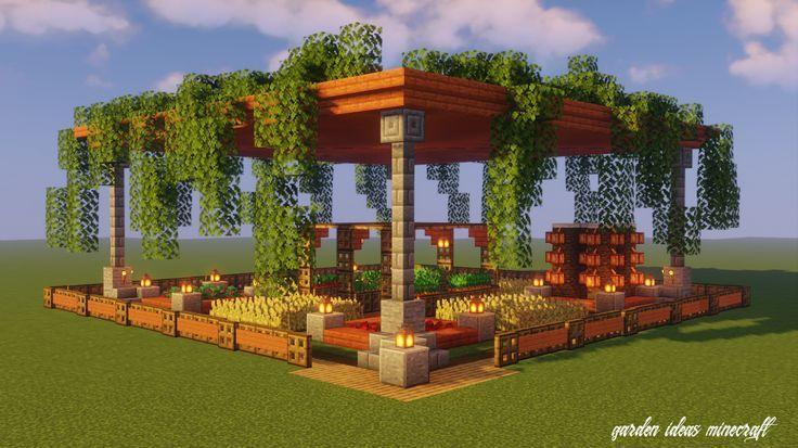 Garden Minecraft Ideas in 2020 | Minecraft garden ...