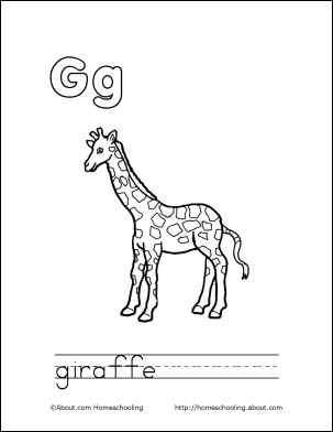 Letter Q Coloring Book - Free Printable Pages | LETTER G | Giraffe ...