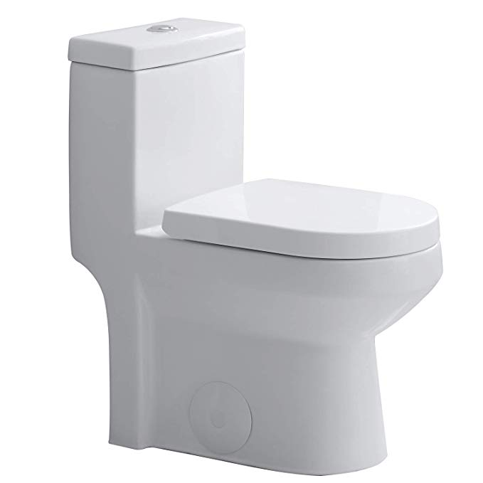 Horow Hwmt 8733 Small Toilet 25 Long X 13 4 Wide X 28 4 High One Piece Short Compact Bathroom Tiny Mini Commode Water Closet Dual Flush Concealed Small Toilet