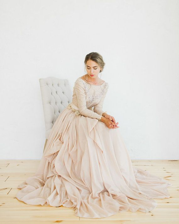 Romantic silk batiste and lace lining wedding dress | Pinterest ...