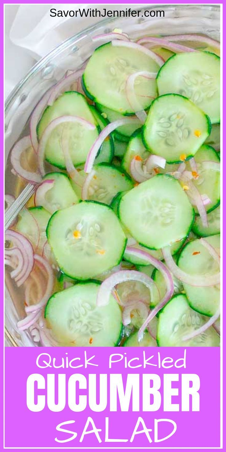 Pickled Cucumber and Red Onion Salad images