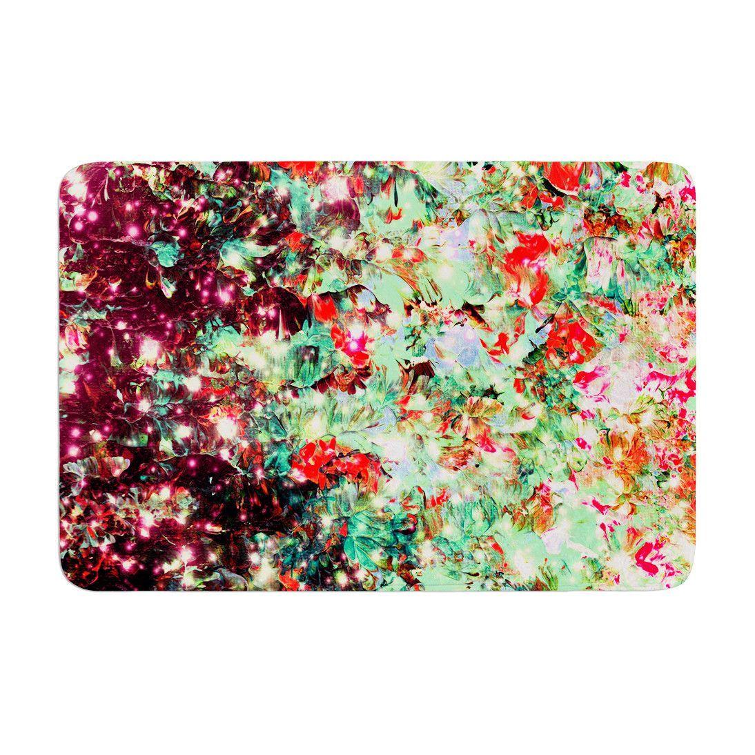 "Ebi Emporium ""Mistletoe Nebula"" Red Green Memory Foam Bath"