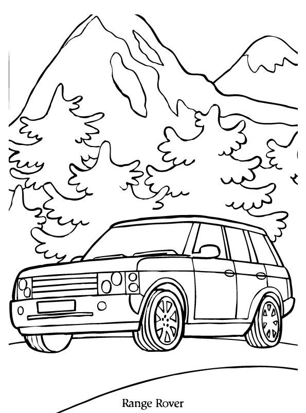Print Range Rover Kleurplaat Coloring Collection Pinterest