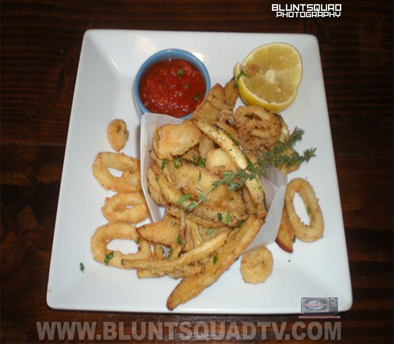 Fried calamari with fries portosalvobronx in the bronx