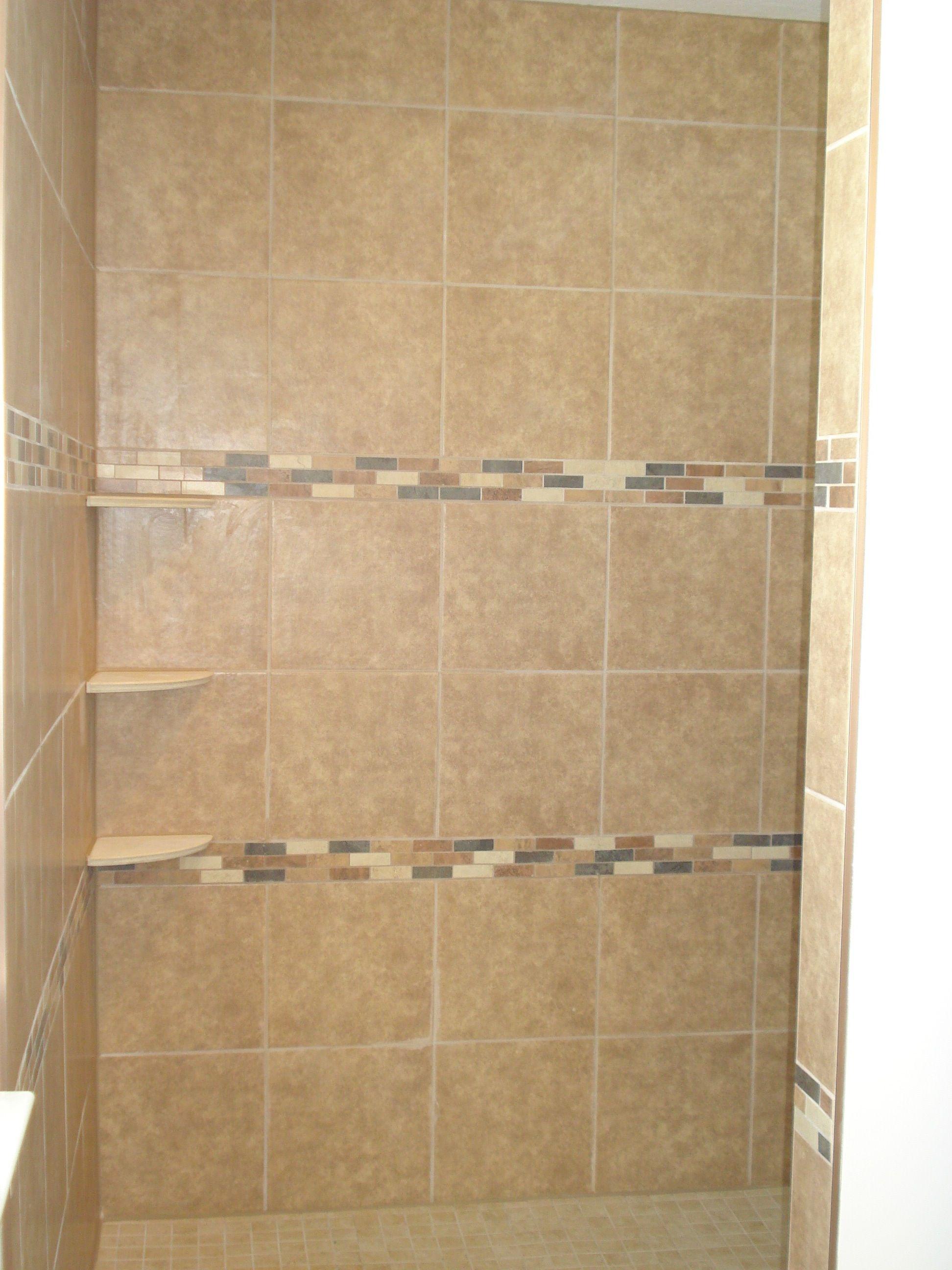brown bathroom shower tile   Master bath remodel   Pinterest   Brown ...