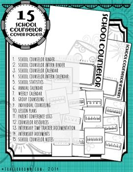 Ultimate School Counselor Planner (Any year, B&W, Doodle Bundle)