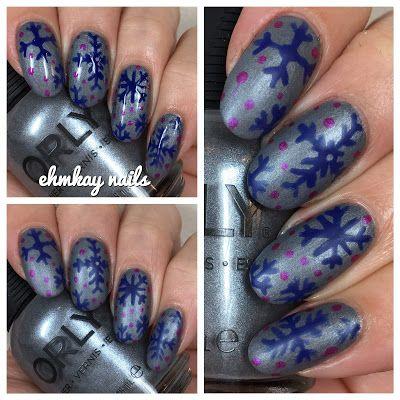Orly Sunset Strip Holiday 2016 Snowflakes Nail Art #hallodezember