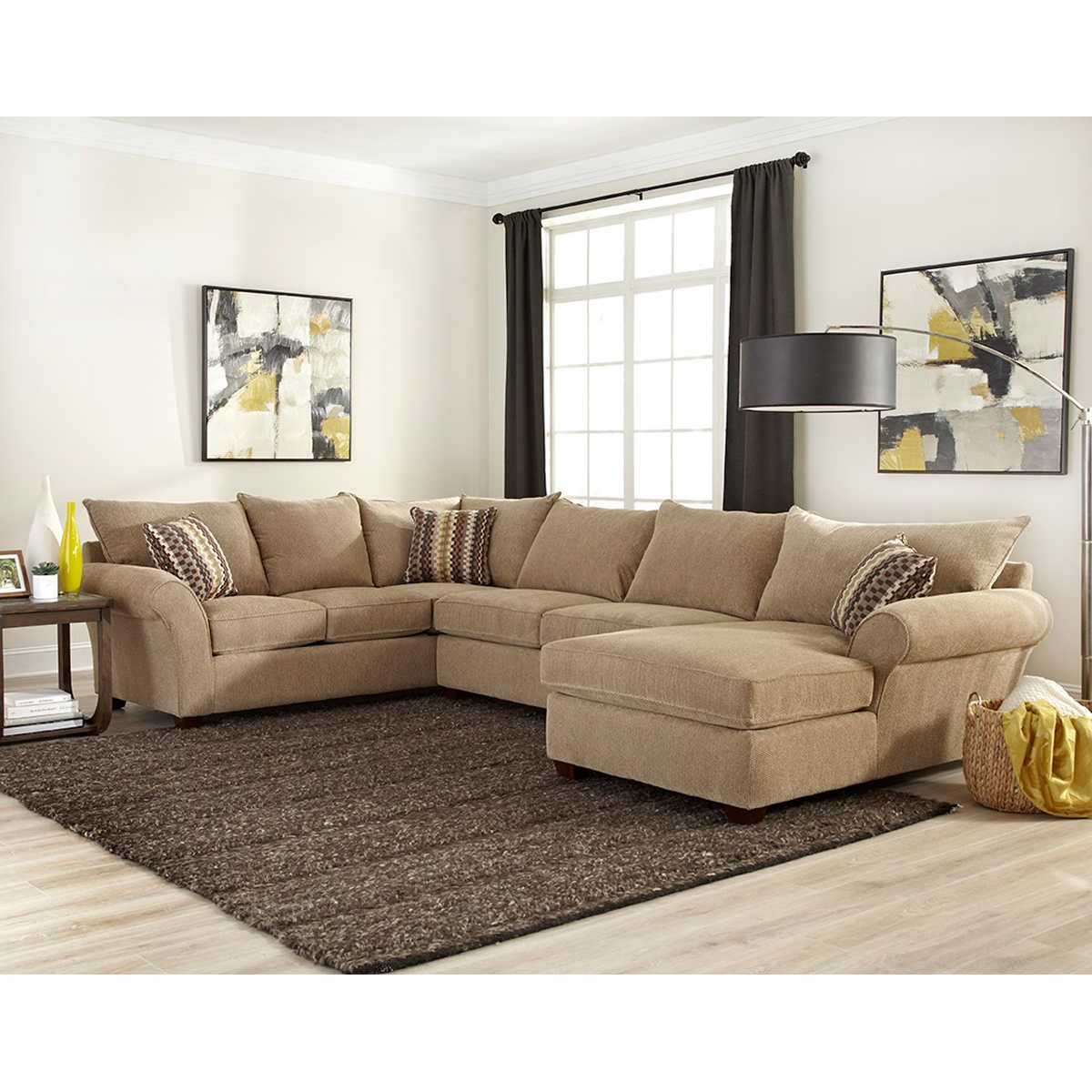 Delightful Cabot Fabric Sectional