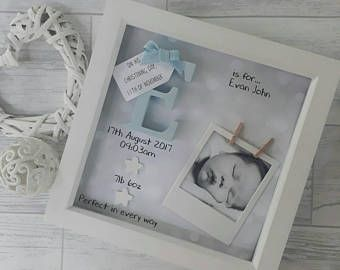 New Baby Gifts Boy Gift For Newborn 1st Birthday Godson Nephew Frame Personalised Keepsake Nursery