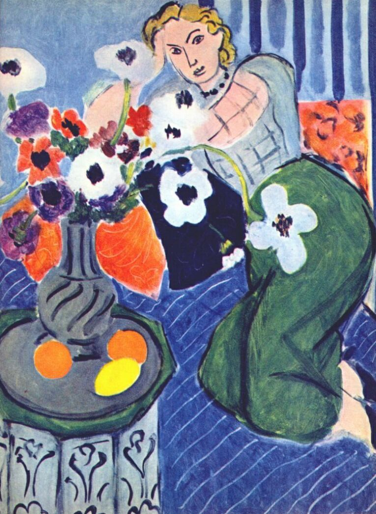 "HENRI MATISSE EXPRESSING MOOD OVER REALISM is part of Henri matisse, Matisse paintings, Matisse, Art, Painting, Artist - Henri Émile Benoît Matisse was a French artist, known for both his use of color and his fluid and original draughtsmanship  He was a draughtsman, printmaker, and sculptor, but is known primarily as a painter  Matisse is widely regarded as the greatest colorist of the 20th century and as a rival to Pablo Picasso in the importance of his innovations  He emerged as a PostImpressionist, and first achieved prominence as the leader of the French movement Fauvism  Although interested in Cubism, he rejected it, and instead sought to use color as the foundation for expressive, decorative, and often monumental paintings  As he once controversially wrote, he sought to create an art that would be  a soothing, calming influence on the mind, rather like a good armchair   Matisse used pure colors and the white of exposed canvas to create a lightfilled atmosphere in his Fauve paintings  Rather than using modeling or shading to lend volume and structure to his pictures, Matisse used contrasting areas of pure, unmodulated color  These ideas continued to be important to him throughout his career  Matisse once declared that he wanted his art to be one  of balance, of purity and serenity devoid of troubling or depressing subject matter,  and this aspiration was an important influence on some, such as Clement Greenberg, who looked to art to provide shelter from the disorientation of the modern world  Read More Here HenriEmileBenoit Matisse was born to middleclass parents EmileHippolyteHenri Matisse, a grain and hardware merchant, and Anna Heloise Gerard  He grew up in BohainenVermandois and went to school at the College de Saint Quentin, before moving to Paris to study law  In 1889, he returned to SaintQuentin as a law clerk, though he found the job tedious and complained of anxiety  Later that year he contracted appendicitis and spent several months at home recovering  During that time, at the age of 20, he discovered the welcome isolation and freedom of painting  Matisse began to show his work in large group exhibitions in Paris in the mid1890s, including the traditional Salon de la Société Nationale des BeauxArts, and his work received some favorable attention  He traveled to London and to Corsica, and in 1898 he married Amélie Parayre, with whom he would have three children  By the turn of the 20th century, Matisse had come under the more progressive influence of Georges Seurat and Paul Signac, who painted in a ""Pointillist"" style with small dots of color rather than full brushstrokes  He stopped exhibiting at the official Salon and began submitting his art to the more progressive Salon des Indépendants in 1901  In 1904 he had his first oneman exhibition at the gallery of dealer Ambroise Vollard  Matisse had a major creative breakthrough in the years 190405  A visit to SaintTropez in southern France inspired him to paint bright, lightdappled canvases such as Luxe, calme et volupté (190405), and a summer in the Mediterranean village of Collioure produced his major works Open Window and Woman with a Hat in 1905  He exhibited both paintings in the 1905 Salon d'Automne exhibition in Paris  In a review of the show, a contemporary art critic mentioned the bold, distorted images painted by certain artists he nicknamed ""fauves,"" or ""wild beasts "" Painting in the style that came to be known as Fauvism, Matisse continued to emphasize the emotional power of sinuous lines, strong brushwork and acidbright colors in works such as The Joy of Life, a large composition of female nudes in a landscape  Like much of Matisse's mature work, this scene captured a mood rather than merely trying to depict the world realistically  After finding his own style, Matisse enjoyed a greater degree of success  He was able to travel to Italy, Germany, Spain and North Africa for inspiration  He bought a large studio in a suburb of Paris and signed a contract with the prestigious art dealers of Galerie BernheimJeune in Paris  His art was purchased by prominent collectors such as Gertrude Stein in Paris and the Russian businessman Sergei I  Shchukin, who commissioned Matisse's important pair of paintings Dance I and Music in 190910  In one of his final projects, Matisse created an entire program of decorations for the Chapel of the Rosary in Vence (194851), a town near Nice, designing stainedglass windows, murals, furnishings, and even sacred vestments for the church's priests  Matisse died on November 3, 1954, at the age of 84, in Nice  He was buried in nearby Cimiez  He is still regarded as one of the most innovative and influential artists of the 20th century  Read More Here"