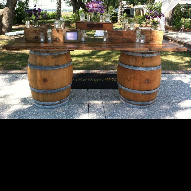 The 25 best barrel bar ideas on pinterest whiskey for Diy whiskey barrel bar