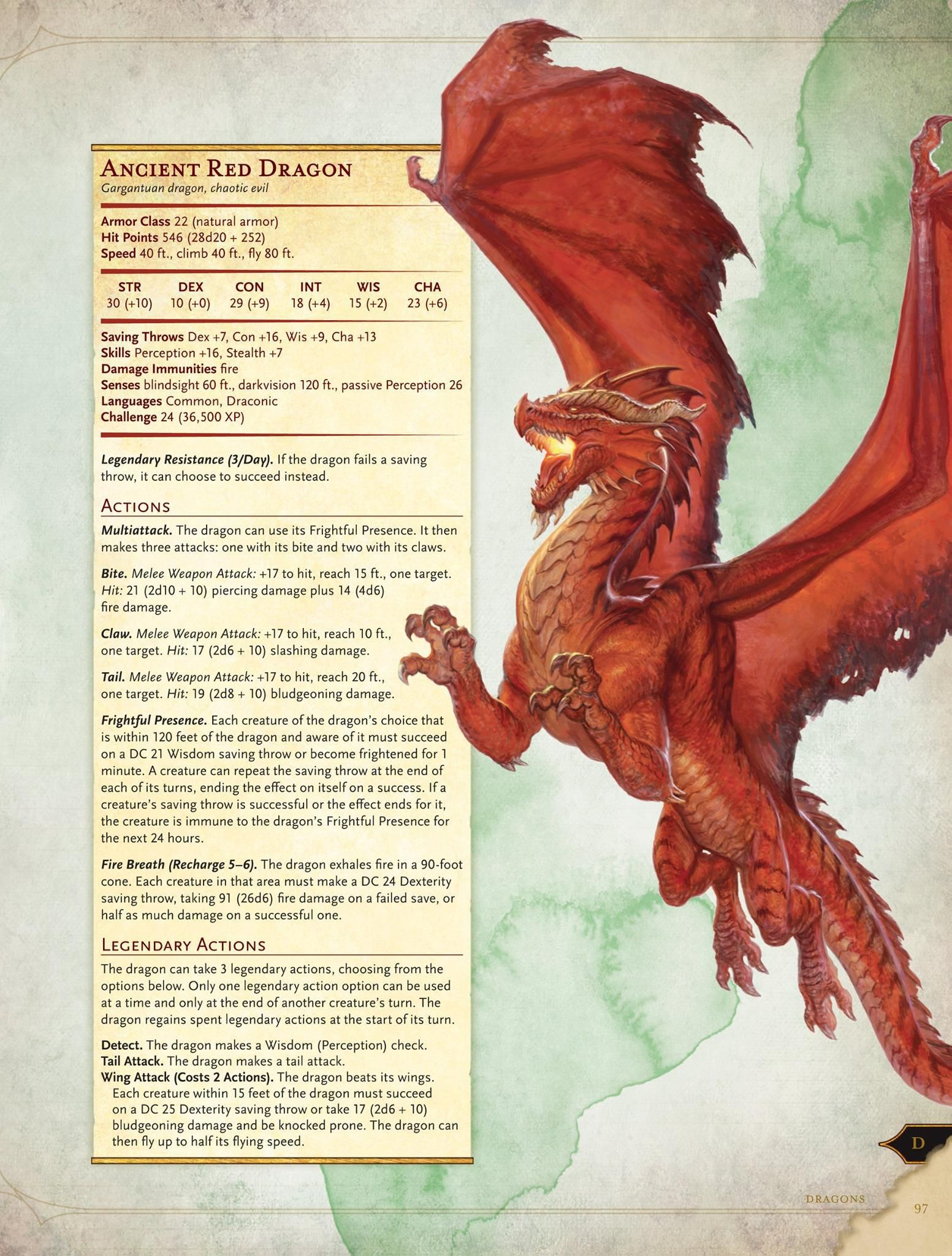 D&D 5th: Monster Manual Preview – Ancient Red Dragon | DMB