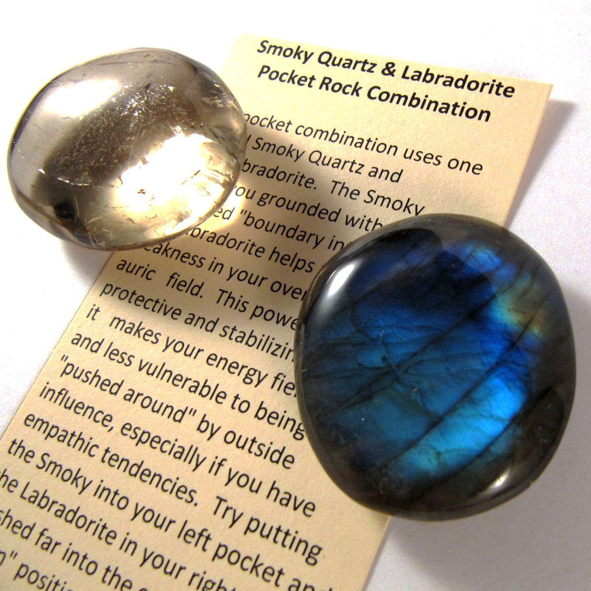 Labradorite And Smoky Quartz Pocket Rocks Crystal Healing Crystals Crystals And Gemstones
