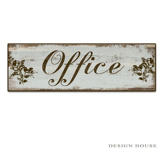 """Office sign Office plaques Office decor home office decor business signs boutiques signs boutique decor mother's day gifts 18.5""""x6""""x3/4"""""""