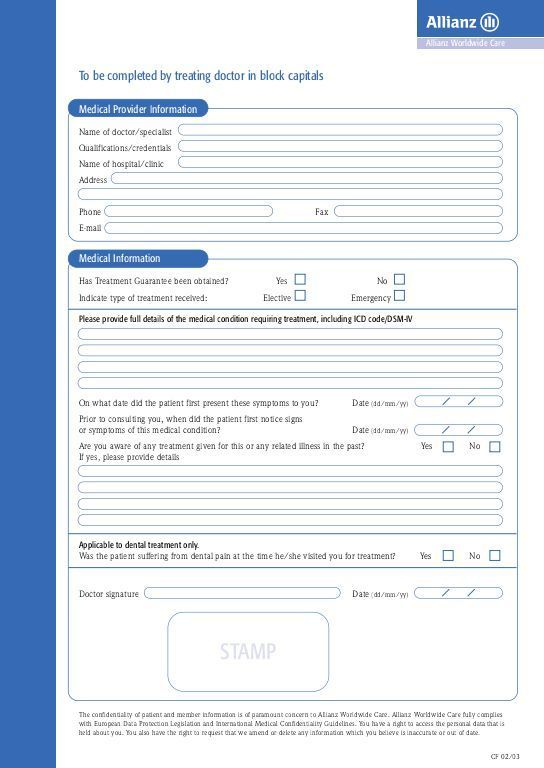 Allianz Claim Form Allianz Claim Form