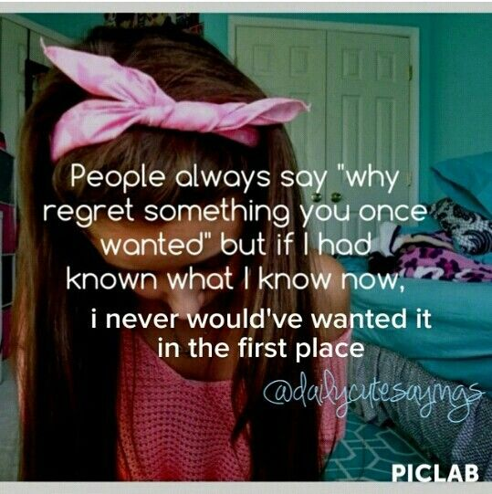 If I had known