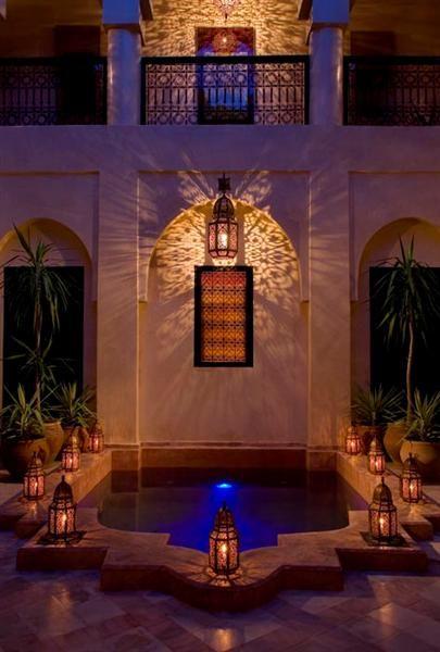 Patio at night riad meriem d co pinterest decoraci n hogar marruecos y decoraci n marroqu - Decoracion marruecos ...