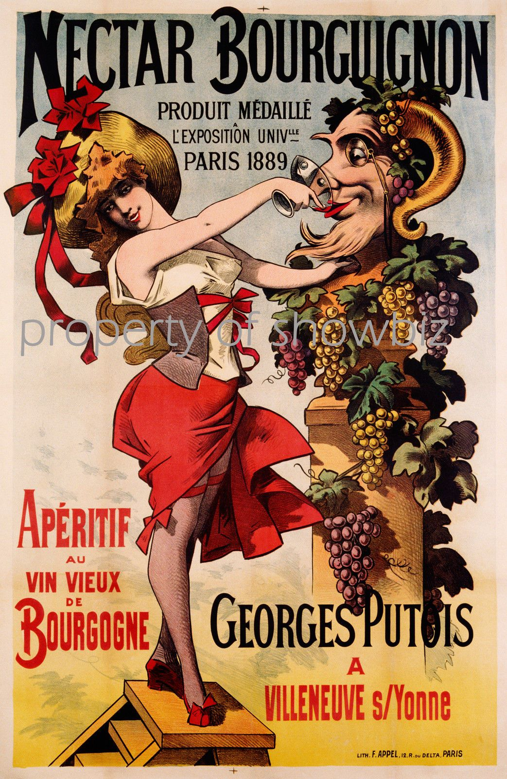 Vintage Posters Vintage French Wine Advertisement Poster Red Bunch Of Grapes 1920s Vintage Food Posters Wine Poster Vintage Advertising Posters